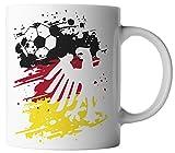 vanVerden Tasse Deutschland Fußball Adler Germany Fan Mug WM EM, Farbe:Weiß/Bunt