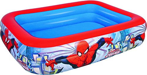 Piscina gonfiabile Ultimate Spiderman 201x150x51 cm 3 anelli