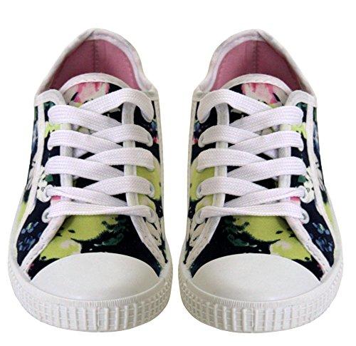 Baby Schuhe Flache Blue Dark Floral amp;h Mädchen A Footwear Schnüren Zum EX1qP1