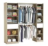 habeig RIESIGER Kleiderschrank #5077 begehbar offen Garderobe Schrank Regal Schublade
