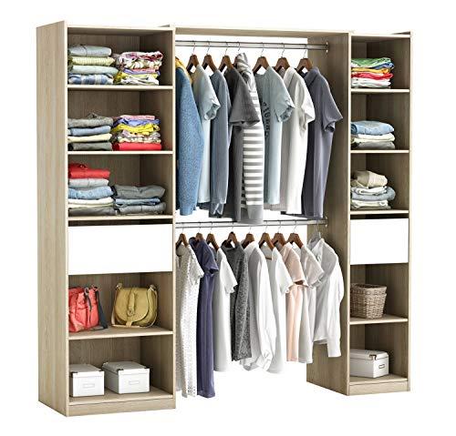 habeig RIESIGER Kleiderschrank #5077 begehbar offen Garderobe Schrank Regal Schublade -