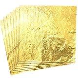 CZ Store-Foglia d'oro|14X14 CM|✮✮Garanzia A Vita✮✮-Foglie d'oro|Pacchetto di 100|Foglia imitazione Oro decorazione/Artigianato/Bricolage/doratura-Foglia d'Oro Slime interattivo Bambini Adulti