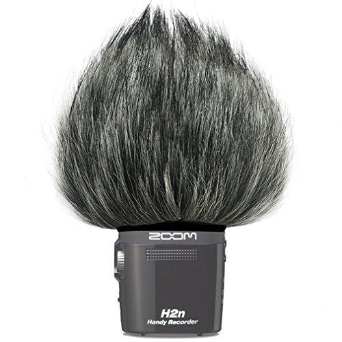First2savvv TM-H2N-F01 Micrófono Externo Peludo Parabrisas Manguito Para Grabadores digitales para Zoom H2N