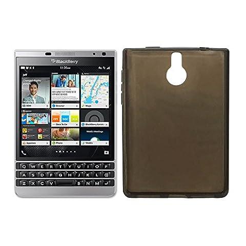 Owbb Coque Silicone pour Blackberry Passport Silver Edition Housse TPU Anti-Rayures - gris