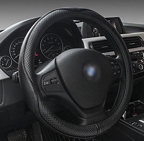 CFX Echt-Leder-Bezug fürs Autolenkrad Durchmesser 38cm, Universal-Autolenkradbezug