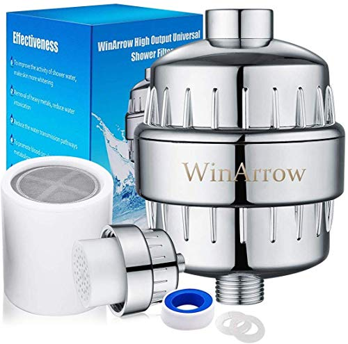 WinArrow- Universal Duschfilter, Hochleistungs Keine Verschmutzung Reduziert Chlor mit Austauschbarer Filterpatrone Lassen Haar und Haut Gesünderes Enthält Teflonband WA550