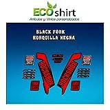 Ecoshirt IU-AG4Y-KONX Stickers Fork Rock Shox Xc32 2017 Am122 Autocollants...