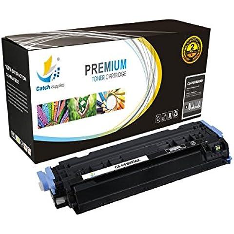 CatchSupplies reemplazo Q6000A Cartucho de tóner Negro para la serie HP 124A | 2.500 rendimiento | compatible con el color HP LaserJet 2600N, 1600, 2605N, 2605dn, 2605DTN, CM1015 MFP, CM1017 MFP