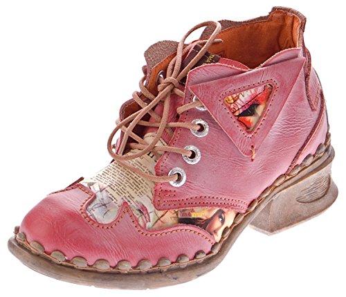 TMA , Chaussures de ville à lacets pour femme Rouge