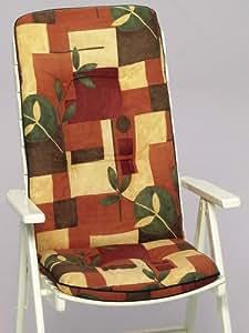 SUN GARDEN -40071 Auflage für Sessel, hoch Dessin: Korsika 40071-3