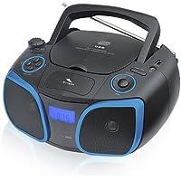 Sytech SY9956AZ - Reproductor Radio CD/MP3/USB, Color Azul