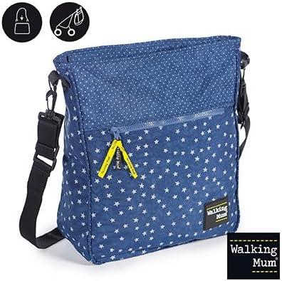 Walking Mum  - Bolsa  denim baby para silla de paseo azul