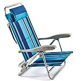 Liegestuhl aus Alu, 7 verschiedene Positionen, klappbar, 110 x 63 cm: Sonnenliege Gartenliege Strandliege Stuhl Camping Liege Sommer Relax Liege Stuhl
