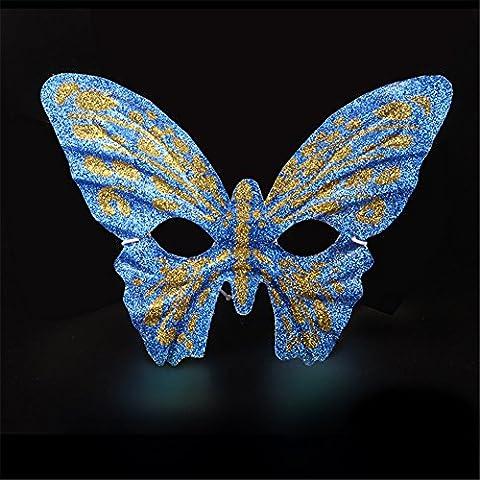 Halloween Maske Maskerade Laufsteg Partei gemaltes halbes Gesicht Schöne Prinzessin Schmetterlings Schablonen,Blau