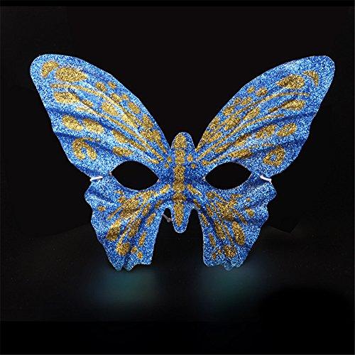 erade Laufsteg Partei gemaltes halbes Gesicht Schöne Prinzessin Schmetterlings Schablonen,Blau (Hexe-gesicht Halloween-schablone)