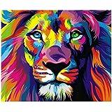 5D Diamant Broderie Animal de lion de foret complet Résine Point de Croix Peinture Kits DIY Needlework Décoration Salon Chambre