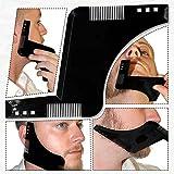 JSDL Bart Schablone Bartkamm, Bart Styling Werkzeug Für Gestalten Sie Ihren Ausschnitt,Wangenlinie,Jawline und Goatee leicht