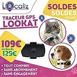LOCALIZ lookat Traceur GPS per Gatto e Piccolo Cane