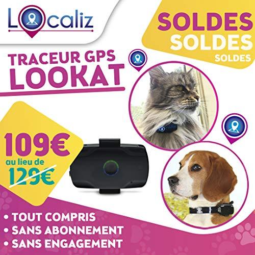 """LOCALIZ Lookat Traceur GPS pour Chat et Chien. Le Traceur GPS de l'émission sur TF1 """"La Vie Secrète des Chats Saison 2"""""""