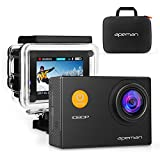 APEMAN Action Cam Sport Action Camera Full HD 1080P 12MP 170° Grandangolare e Kit Accessori con Custodia Impermeabile e Pacchetto Portatile per Ciclismo Nuoto e altri Sport Esterni (Nero) - apeman - amazon.it