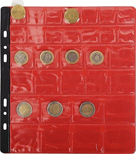 Exacompta 96004E Sachet de 3 Recharges Numismatiques 32 Cases Cristal Diamètre 20/30/40 mm - 24,5 x 25 cm