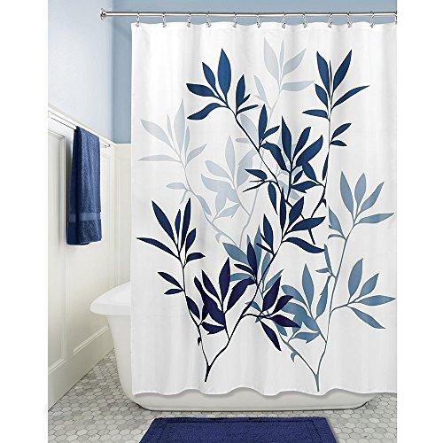 kipten Tree Style Wasserdicht Fashion Vorhang für die Dusche für Badezimmer-Schwarz Navy and Slate Blue - Blau Liner-navy Vorhang Dusche