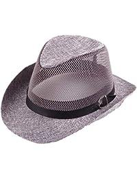 Cosechadoras Sombrero De Paja Sombrero para Hombres Mujeres El Modernas  Casual Sol Protección Solar Sombrero Unisex Panamá Gángster… d14418397b82
