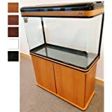LZ-810 BIRCH Modern Cabinet Aquarium Fish Tank Marine / Tropical / Freshwater - (84cm 2.9ft)- 198L with LED Lighting