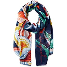 bab49d462473 Desigual foulards 18wawf01 kora rectangle bleu