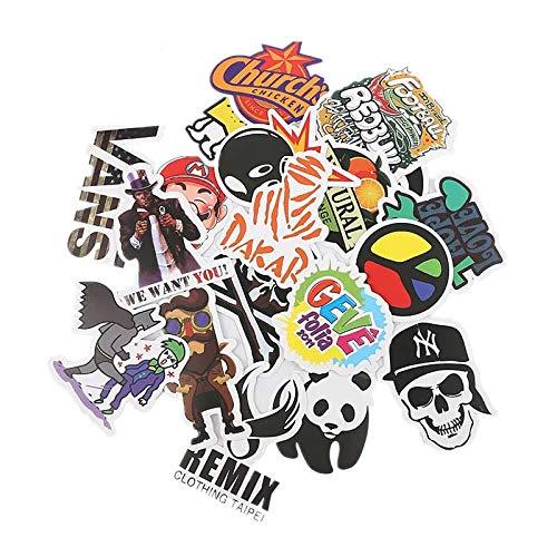 Aufkleber 100 Stück Wasserdicht Vinyl Stickers Graffiti Style Decals für Auto Motorräder Fahrrad Skateboard Snowboard Gepäck Laptop Aufkleber MacBook iPad und mehr