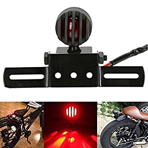 katur 1pcs 12/V 10/W motocicleta luz trasera Stop licencias freno l/ámpara para Chopper Cafe Racer de corcho carcasa de acero bala motos luz para harley