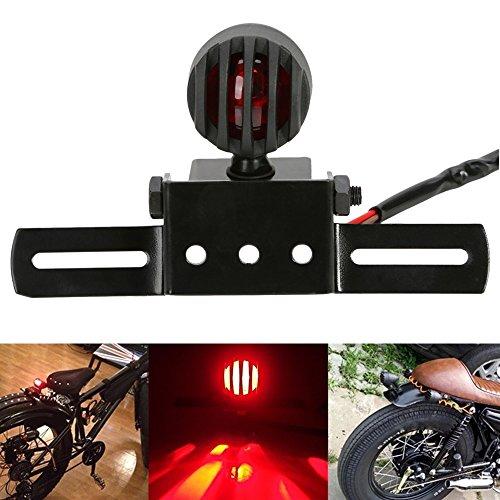 OSAN Motorrad UNIVERSAL Rücklicht Bremslicht Kennzeichenbeleuchtung mit Halter (A)