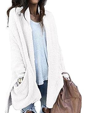 Nlife Women Fashion Open Front Long Sleeve With Pocket Asymmetrical Hem Cardigan Tops Coat