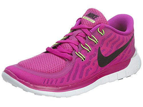 Nike Wmns Free 5.0 - Scarpe sportive Donna Violett (Fuchsia Flash/Black-Pink Power-Hot lava)