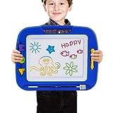 SGILE Magnetische Maltafel Zaubertafeln für Kinder, Bunt Löschbar Magnettafel Zaubermaltafel Zeichenbrett mit 3 Form Stempeln, Gekritzel Skizze Auflage Tafel Reißbrett Kindergeschenk