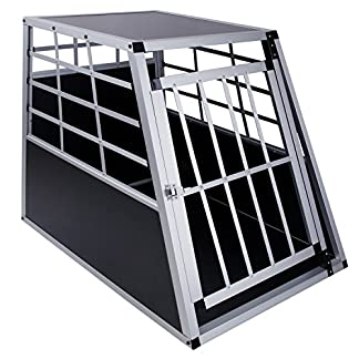Dog Transport Box 65 x 36 x 69 cm Aluminium Car Box DC1 512RY4ZD5HL
