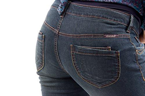 Christoff Jeans de grossesse extra long Style vintage Bleu