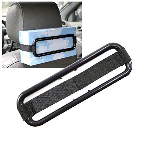 T-MEKA Car Pare-Soleil Support de boîte à mouchoirs Serviette en Papier Serviette Box Housse de siège arrière Support,Multifonction Pare-Soleil de Voiture Tissue Fixation-Noir