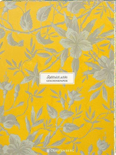 Gefährlich schön Geschenkpapier-Heft - Motiv Gelbe Malve: 2 x 5 Bögen