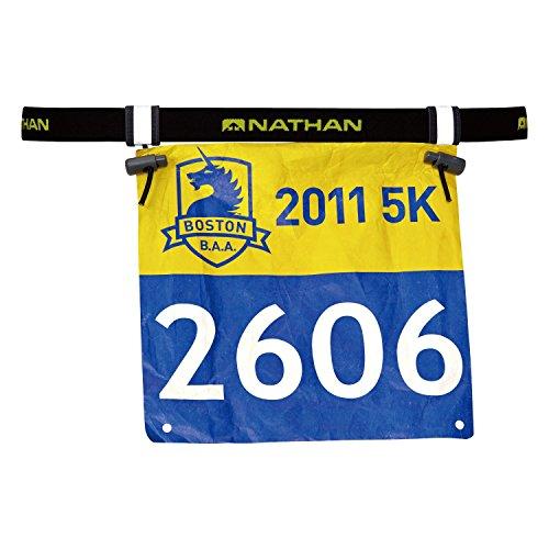 Nathan Race Number Belt 2.0, Black, One Size