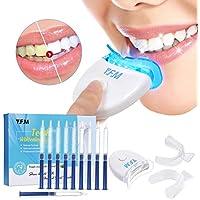 Y.F.M. Kit de Blanqueamiento de Dientes Profesional en Casa Juego de Blanqueamiento Dental 10 x Gel Blanqueador 2 x Bandeja para Gel y Luz Láser
