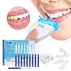 Idea Regalo - Teeth Whitening Kit ,Y.F.M. Home Professional Sbiancamento dei denti Set Teeth Whitening Bleaching System, 10x Sbiancamento dei denti 2x Kit vassoi per gel e luce laser