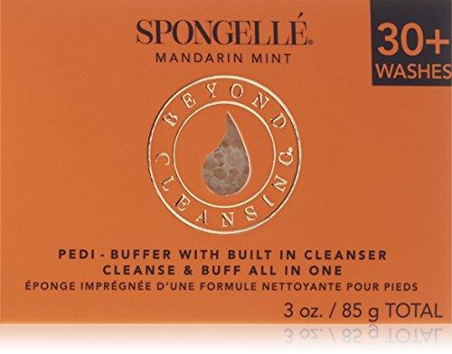 Spongellé Pedicure Infused Buffer, Mandarin Mint 92 g
