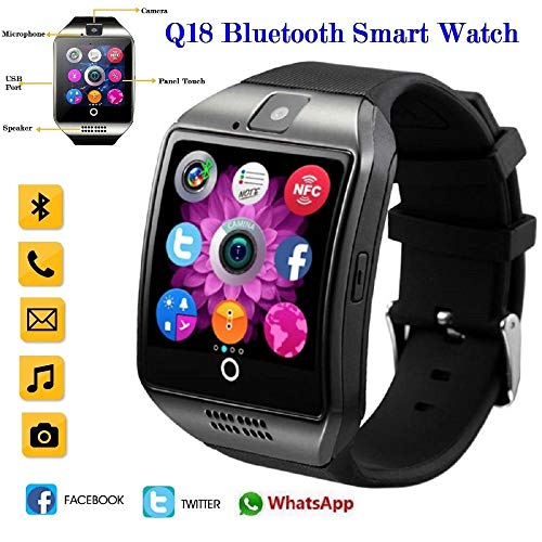 UNIQUS 2019 Q18s Bluetooth Smart Watch Support 2G GSM SIM Card Audio Camera Fitness Tracker Smartwatch Android iOS Mobile Phone relogio