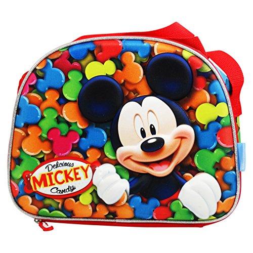 Disney Mickey Mouse Candy - Sac pour Le Déjeuner 3D - pour Les Enfants - Intérieur Thermique - Couleur: Multicolor