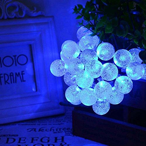 WW GlüHbirnen Solarleuchten Blase Ball LED Wasserdicht Weihnachten Dekoration Kugel Lichter Lichterketten , Blue