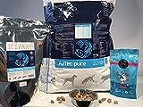 ICEPAW Kombipaket - Das Blaue ( Aztec Pure Trockenfutter 14kg, Blue whiting Leckerli Trockenfisch 250g, Fischhappen Leonis Leckerli 100g)
