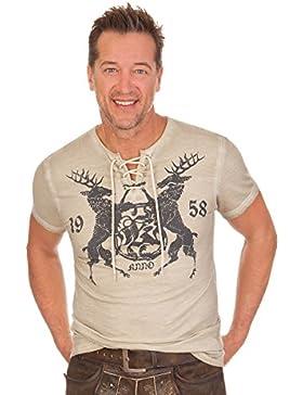 Trachten Herren Shirt - TINO - natur, Größe XXXL