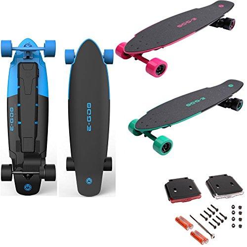 Yuneec E-GO 2 Elektro Skateboard Longboard + LED Beleuchtung Board & Lampe Set (Blau) -