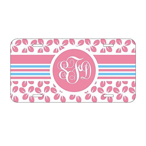 Front License Cover Plate (Pink Gravur Auto Nummernschild Personalisierte Motorrad Decor Auto Tags 15,2x 30,5cm Auto Tags für Frauen Lizenz,)